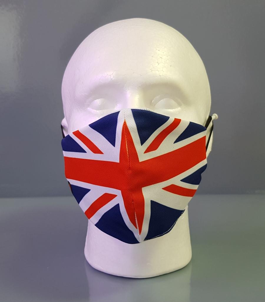 Mascarilla con diseño de la bandera de Gran Bretaña