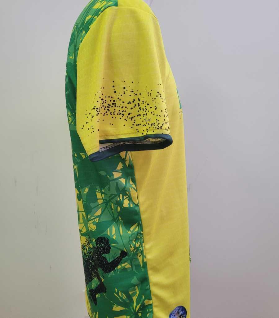 Camiseta eco de running en colores amarillo y verde